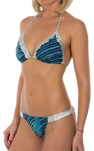 Just Cavalli New Cavalli Two Piece & Triangle Bikini Swimsuit Set M