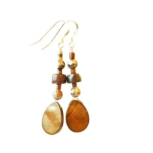 Grotto Gold Freshwater Pearl Earrings