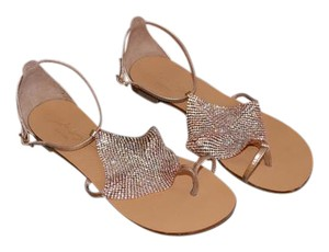 Lola Cruz Sexy Great Color Sophisticated Rose Gold Sandals