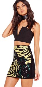 Missguided Mini Skirt Leopard Sequin Mini Skirt Multi