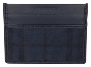 Burberry Burberry Navy Check Card Case