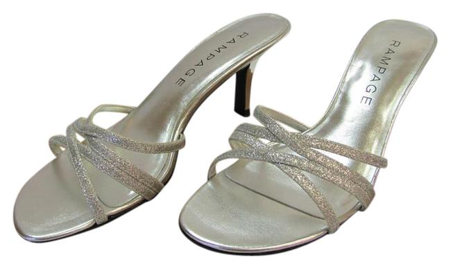 Item - Silver Sparkling M Very Good Condition Formal Shoes Size US 6 Regular (M, B)