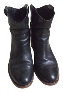 Alberto Fermani Edgy Italian Leather Detailed Stitching Black Boots