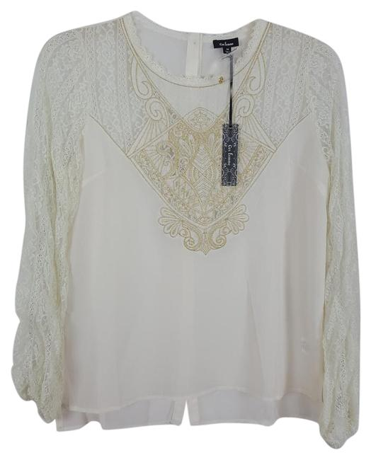 Preload https://img-static.tradesy.com/item/20765970/ivory-and-light-gold-lace-dainty-button-back-tunic-blouse-size-8-m-0-1-650-650.jpg