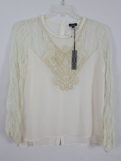 ces femme M Tunic M Top Ivory and light gold Image 4