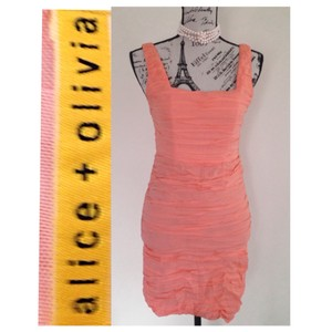 Alice + Olivia short dress Peach on Tradesy