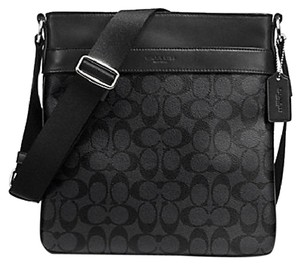 Coach F54781 54781 71877 71131 Charcoal Black Messenger Bag
