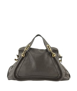 Chlo Chloe Leather Satchel in Grey