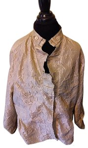Chico's Silky Jacket Top Gold