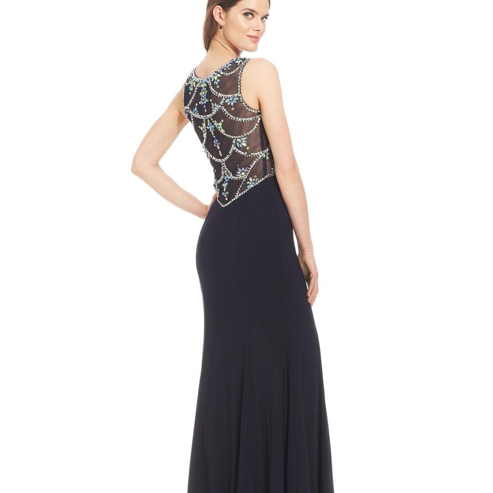 Betsy & Adam Embellished Sweetheart Gown Long Formal Dress Size ...