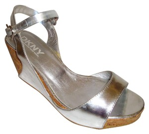 DKNY silver Sandals