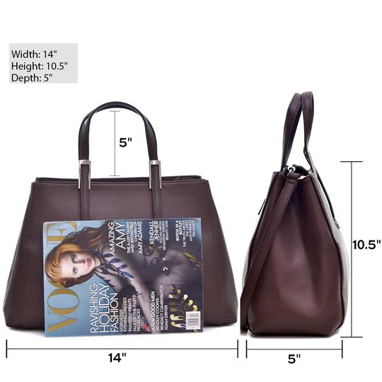Other The Treasured Hippie Work Bags Large Handbags Designer Inspired Affordable Handbags Tote in Metallic Silver Image 1