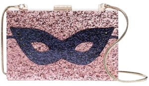Kate Spade Dress The Part Glitter Mask Mask Collectible Clutch