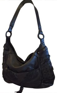 TOSCA BLU Dolce &gabbana Gucci Distressed Leather Hobo Bag
