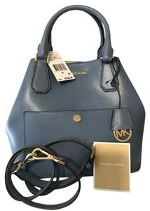 Michael Kors Greenwich Grab Saffiano Leather Tote in Cornflower Blue