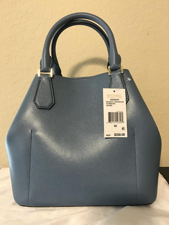 a2622bce8f Michael Kors Greenwich Grab Saffiano Leather Tote in Cornflower Blue Image  8. 123456789