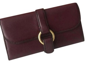 Michael Kors MICHAEL KORS QUINCY LARGE CARRYALL SMOOTH LEATHER WALLET IN PLUM