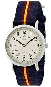 Timex T2P234 Unisex Multi Nylon Bracelet With Cream Analog Dial