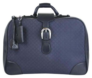 Gucci Duffle Carry On Blue Travel Bag