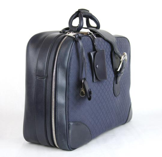 Gucci Duffle Carry On Blue Travel Bag Image 1