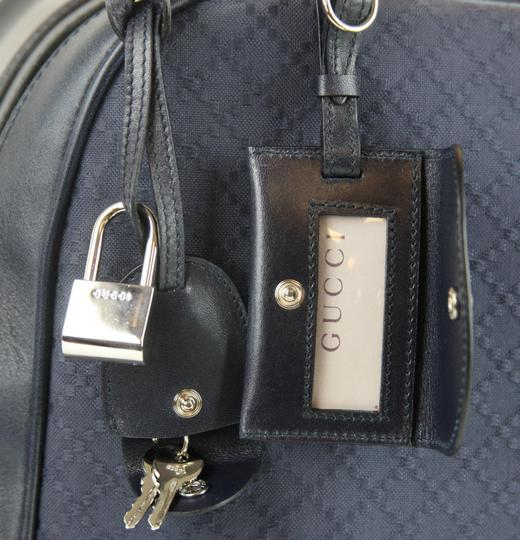 Gucci Duffle Carry On Blue Travel Bag Image 5