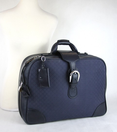 Gucci Duffle Carry On Blue Travel Bag Image 7