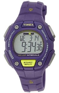Timex TW5K93500 Women Purple Resin Bracelet With Grey Digital Dial