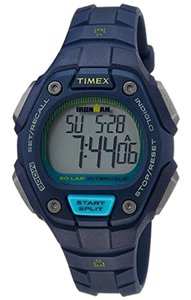 Timex TW5K93600 Women's Blue Resin Bracelet With Grey Digital Dial
