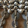 DANNIJO Boho beaded, leather, silver & coin bib necklace Image 3