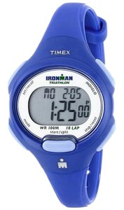Timex T5K784 Women's Blue Rubber Bracelet With Grey Digital Dial