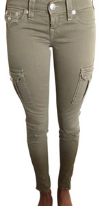 True Religion Designer Pants Detail Zippers Cargo Jeans