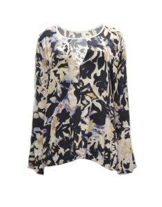 Flowers Of Romance Feminine Floral Top multi color