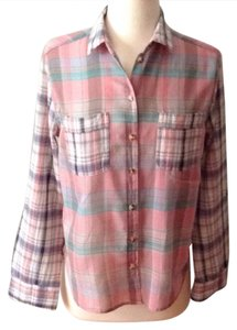 BDG Button Down Shirt pink, green, grey, cream, blue