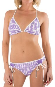Just Cavalli Just Cavalli 2 Piece Triangle String Bikini Swimsuit Logo Print L / 46
