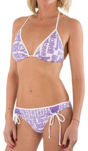Just Cavalli Just Cavalli 2 Piece Triangle String Bikini Swimsuit Logo Print M / 44