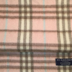 Burberry pink plaid cashmere scarf
