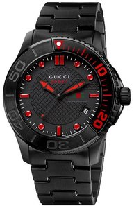 Gucci Guci G-Timeless Black PVD Stainless Steel Mens Watch YA126230