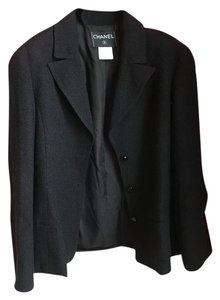 Chanel 2 Piece Classic Black Jacket and Skirt suit 98A 94305