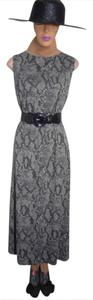PYTHON PRINT BLACK BROWN Maxi Dress by Style & Co Some Stretch Maxi Hem To Sell