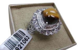 Other Tigers Eye Gemstone Ring with Box Free Shipping