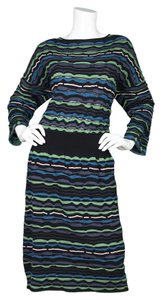 M Missoni short dress Blue M Stripe Knit Long Sleeve on Tradesy