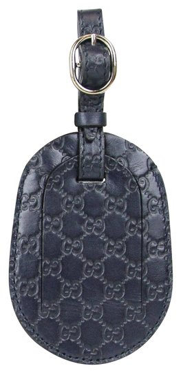 Gucci GUCCI Guccissima Leather Travel Luggage ID Tag Navy 295259 4009 Image 0