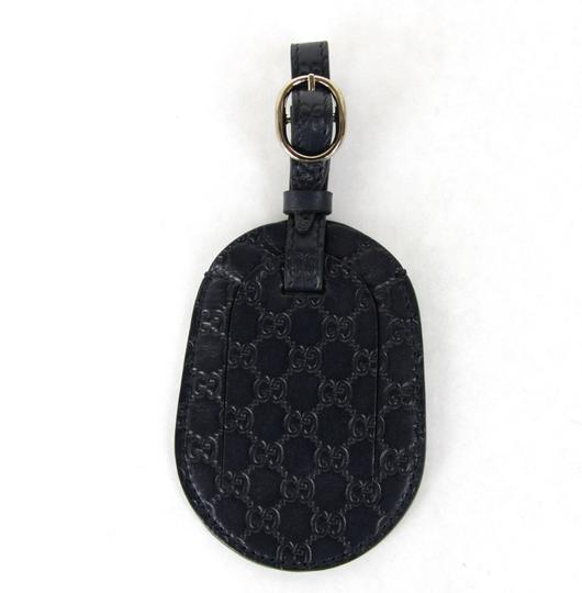 Gucci GUCCI Guccissima Leather Travel Luggage ID Tag Navy 295259 4009 Image 1