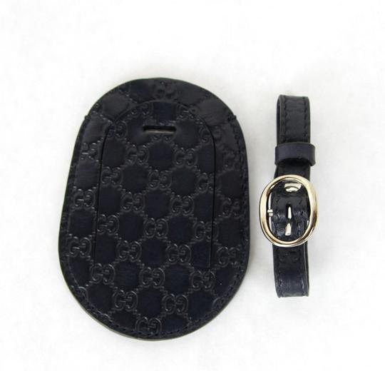 Gucci GUCCI Guccissima Leather Travel Luggage ID Tag Navy 295259 4009 Image 2