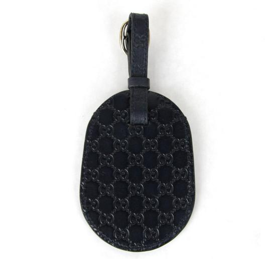 Gucci GUCCI Guccissima Leather Travel Luggage ID Tag Navy 295259 4009 Image 4