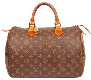Louis Vuitton Canvas Speedy 30 Duffle Satchel in Monogram