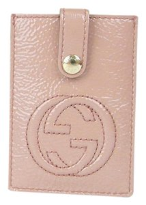 Gucci GUCCI Soho Patent Leather Card Case Pouch Pink 338331 6812