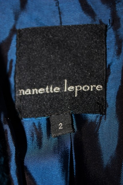 Nanette Lepore Blazer Size 2 If You Leave Teal Jacket