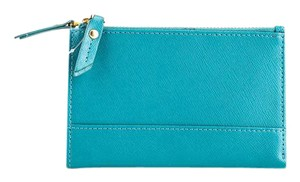 Neiman Marcus * Neiman Marcus Leather Double-zip Bi-fold Wallet