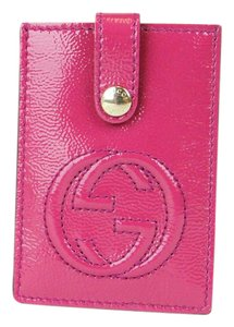 Gucci GUCCI Soho Patent Leather Card Case Pouch Fuchsia 338331 5523